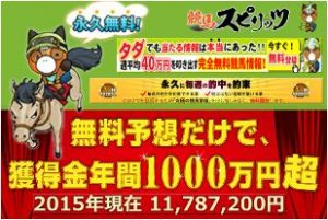 競馬スピリッツ-獲得金年間1000万円超